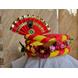 S H A H I T A J Traditional Rajasthani Multi-Colored Silk Vantma or Barmeri Krishna or Ganpati Bhagwan Pagdi Safa or Turban for God's Idol/Kids/Adults (RT861)-ST981_Adults-sm