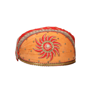 S H A H I T A J Traditional Rajasthani Cotton Mewadi Pagdi or Turban for Kids and Adults (MT867)-ST987_19andHalf
