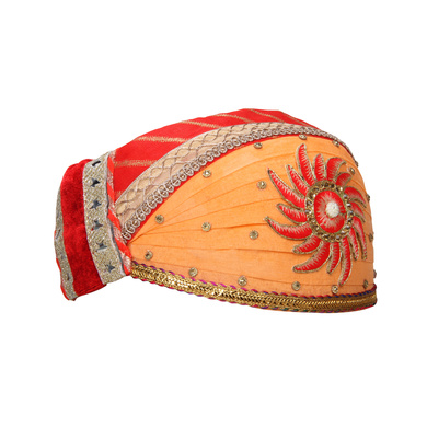 S H A H I T A J Traditional Rajasthani Cotton Mewadi Pagdi or Turban for Kids and Adults (MT867)-18-3