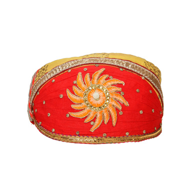 S H A H I T A J Traditional Rajasthani Cotton Mewadi Pagdi or Turban for Kids and Adults (MT868)-ST988_18andHalf