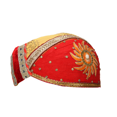 S H A H I T A J Traditional Rajasthani Cotton Mewadi Pagdi or Turban for Kids and Adults (MT868)-18-3