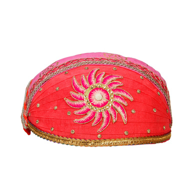 S H A H I T A J Traditional Rajasthani Cotton Mewadi Pagdi or Turban for Kids and Adults (MT869)-ST989_18andHalf