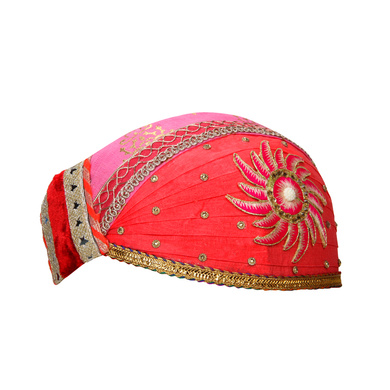 S H A H I T A J Traditional Rajasthani Cotton Mewadi Pagdi or Turban for Kids and Adults (MT869)-18-3