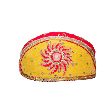 S H A H I T A J Traditional Rajasthani Cotton Mewadi Pagdi or Turban for Kids and Adults (MT870)-ST990_21andHalf