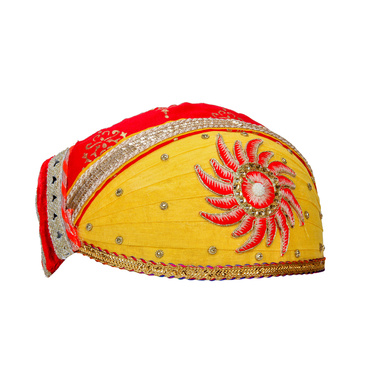 S H A H I T A J Traditional Rajasthani Cotton Mewadi Pagdi or Turban for Kids and Adults (MT870)-18-3