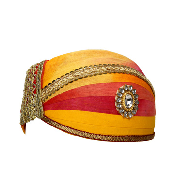 S H A H I T A J Traditional Rajasthani Cotton Mewadi Shaded Pagdi or Turban for Kids and Adults (MT871)-18-3