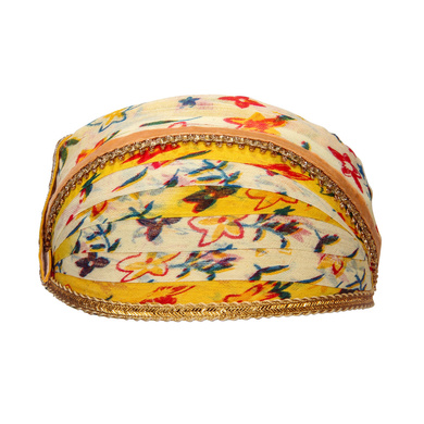 S H A H I T A J Traditional Rajasthani Cotton Mewadi Floral Pagdi or Turban for Kids and Adults (MT873)-ST993_18andHalf