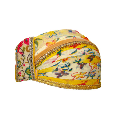 S H A H I T A J Traditional Rajasthani Cotton Mewadi Floral Pagdi or Turban for Kids and Adults (MT873)-18-3