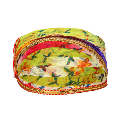 S H A H I T A J Traditional Rajasthani Cotton Mewadi Floral Pagdi or Turban for Kids and Adults (MT874)-ST994_20andHalf