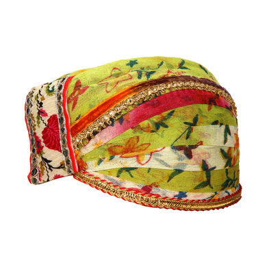 S H A H I T A J Traditional Rajasthani Cotton Mewadi Floral Pagdi or Turban for Kids and Adults (MT874)-18-3