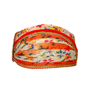 S H A H I T A J Traditional Rajasthani Cotton Mewadi Floral Pagdi or Turban for Kids and Adults (MT875)-ST995_21andHalf