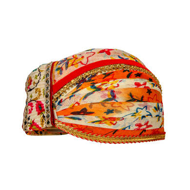 S H A H I T A J Traditional Rajasthani Cotton Mewadi Floral Pagdi or Turban for Kids and Adults (MT875)-18-3