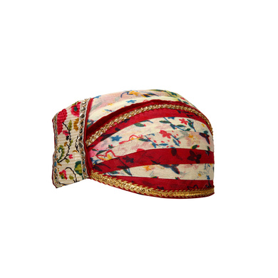 S H A H I T A J Traditional Rajasthani Cotton Mewadi Floral Pagdi or Turban for Kids and Adults (MT876)-18-3