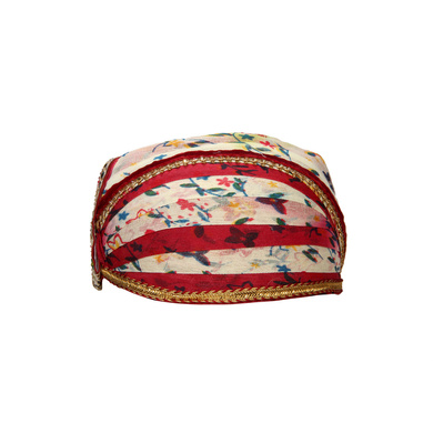 S H A H I T A J Traditional Rajasthani Cotton Mewadi Floral Pagdi or Turban for Kids and Adults (MT876)-ST996_20andHalf
