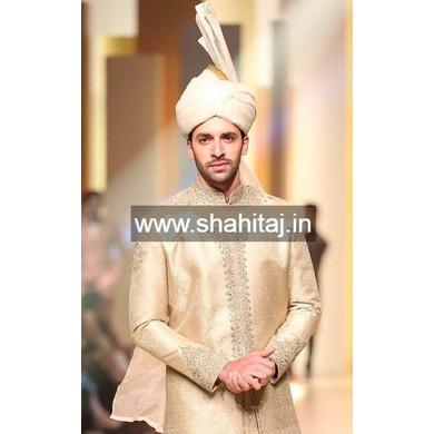 S H A H I T A J Wedding Groom/Dulha Silver Silk Pakistani Muslim Kulla/Imaama/Pagdi Safa or Turban for Kids and Adults (RT881)-ST1001_23andHalf