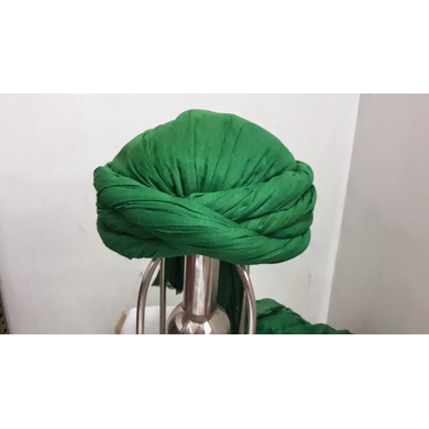 S H A H I T A J Muslim Cotton Vantma or Barmeri Green Imaama Pagdi Safa or Turban for Kids and Adults (RT908)-ST1028_18andHalf