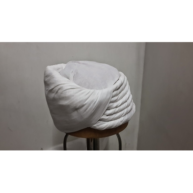 S H A H I T A J Pakistani Imaama Muslim Weddings or Social Occasions White Cotton Pagdi Safa or Turban for Kids and Adults (RT912)-ST1032_21andHalf
