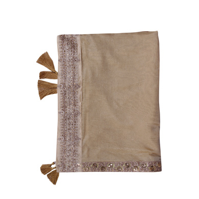 S H A H I T A J Traditional Rajasthani Wedding Golden Silk Stole/Dupatta/Shawl for Groom or Dulha (DS633)-ST764