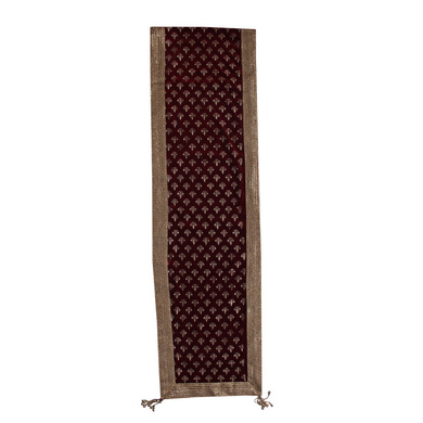 S H A H I T A J Traditional Rajasthani Wedding Maroon Velvet & Golden Stole/Dupatta/Shawl for Groom or Dulha (DS923)-ST1043