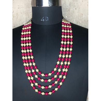 S H A H I T A J Designer Rani with Cream Mala/Kanthla for Weddings/Groom Dress or Sherwani (OS929)-ST1049