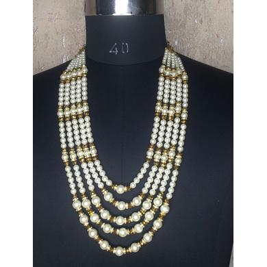 S H A H I T A J Designer White Mala/Kanthla for Weddings/Groom Dress or Sherwani (OS930)-ST1050