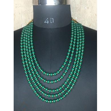 S H A H I T A J Designer Green Mala/Kanthla for Weddings/Groom Dress or Sherwani (OS932)-ST1052