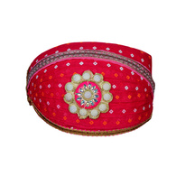 S H A H I T A J Traditional Rajasthani Cotton Rani Bandhej Mewadi Pagdi or Turban for Kids and Adults (MT947)