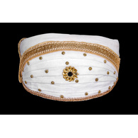 S H A H I T A J Traditional Rajasthani Cotton White Mewadi Bohra Pagdi or Turban for Kids and Adults (MT950)