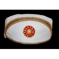 S H A H I T A J Traditional Rajasthani Cotton White Mewadi Bohra Pagdi or Turban for Kids and Adults (MT951)