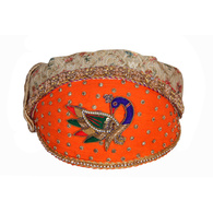 S H A H I T A J Traditional Rajasthani Cotton with Silk Mewadi Barati Multi-Colored Pagdi or Turban for Kids and Adults (MT952)