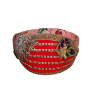 S H A H I T A J Traditional Rajasthani Cotton with Silk Mewadi Barati Multi-Colored Pagdi or Turban for Kids and Adults (MT953)