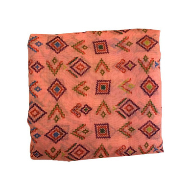 S H A H I T A J Traditional Rajasthani Aztec Print Faux Silk Peach Barati/Groom/Social Occasions Turban Safa Pagdi Pheta Cloth for Kids and Adults (Bulk Purchase) (CT376)-ST536_PACK1