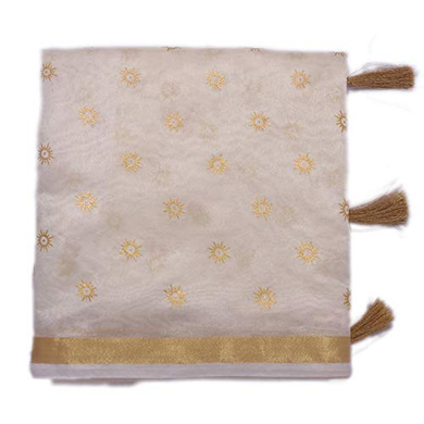 S H A H I T A J Traditional Rajasthani Faux Silk White Barati/Groom/Social Occasions Turban Safa Pagdi Pheta Cloth for Kids and Adults (Bulk Purchase) (CT340)-ST500_PACK1