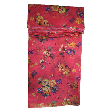 S H A H I T A J Traditional Rajasthani Floral Faux Silk Red Barati/Groom/Social Occasions Turban Safa Pagdi Pheta Cloth for Kids and Adults (Bulk Purchase) (CT326)-Pack of 1 (For Kids to Adults)-1
