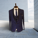 S H A H I T A J Traditional Barati/Groom/Social Occasions Blue Self-Design Slim Fit 5-Piece Suit (MW955)-ST1076_36-sm