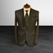 S H A H I T A J Traditional Barati/Groom/Social Occasions Dark Green Self-Design Slim Fit 5-Piece Suit (MW958)-ST1079_38-sm