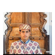 S H A H I T A J Traditional Rajasthani Cotton Mewadi Barati Pagdi or Turban Multi-Colored for Kids and Adults (MT41)