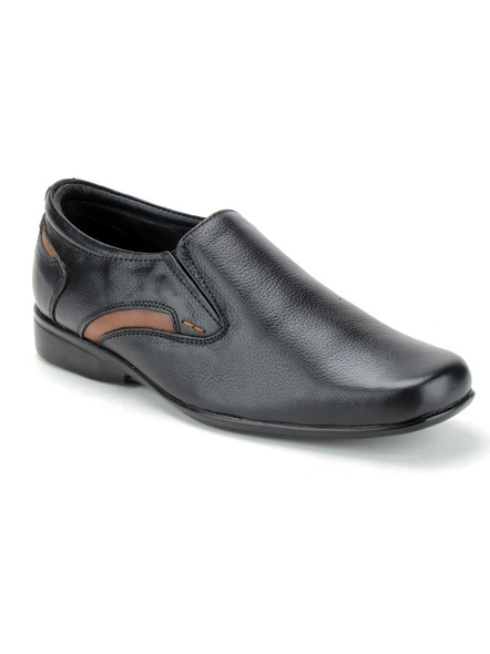 Black Leather Moccasion Formal SHOES24-GP23_BLK_12