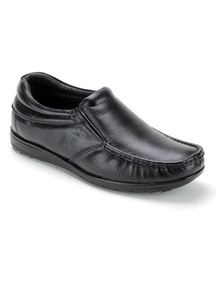 Black Leather Moccasion Formal SHOES24-HT28_BLK_10