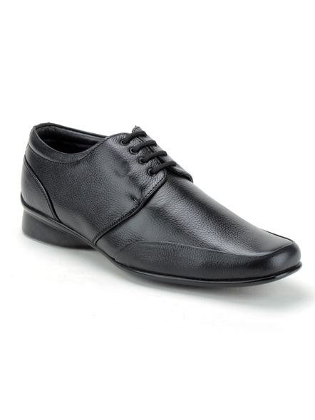 Pine Leather Derby Formal SHOES24-10-Black-2