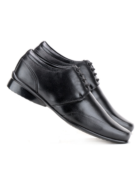 Pine Leather Derby Formal SHOES24-10-Black-5