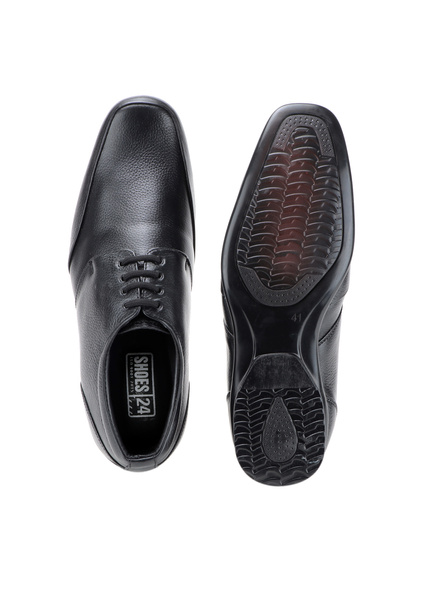 Pine Leather Derby Formal SHOES24-8-Black-1