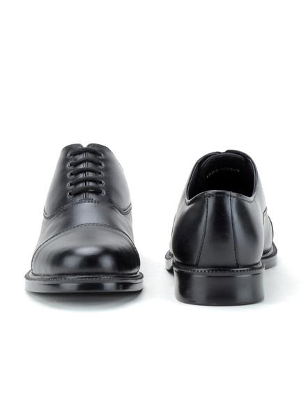 Black Leather Oxford Formal SHOES24-10-Black-3