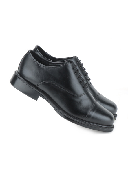 Black Leather Oxford Formal SHOES24-11-Black-4