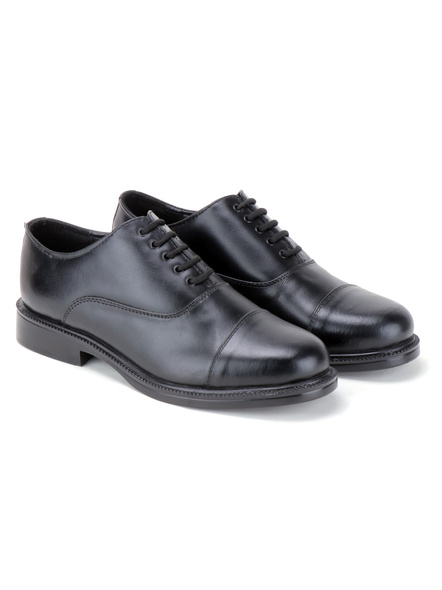 Black Leather Oxford Formal SHOES24-8-Black-6