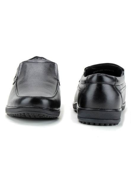 Black Leather Moccasion Formal SHOES24-Black-10-3