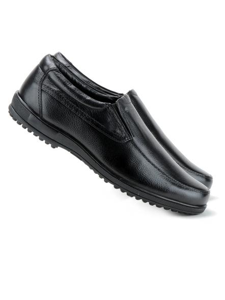 Black Leather Moccasion Formal SHOES24-Black-10-4
