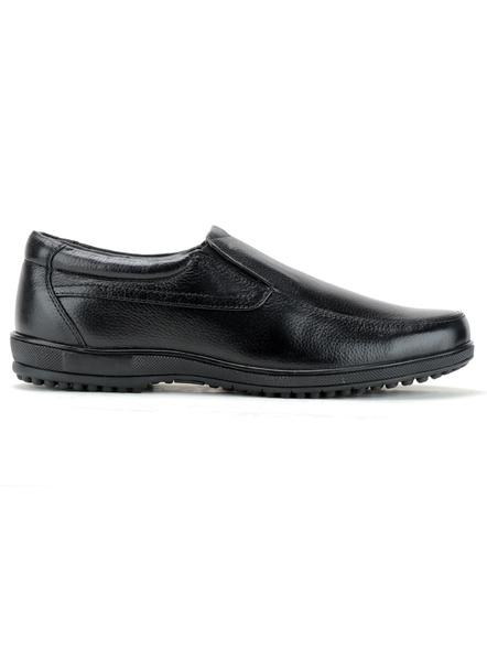 Black Leather Moccasion Formal SHOES24-Black-6-2