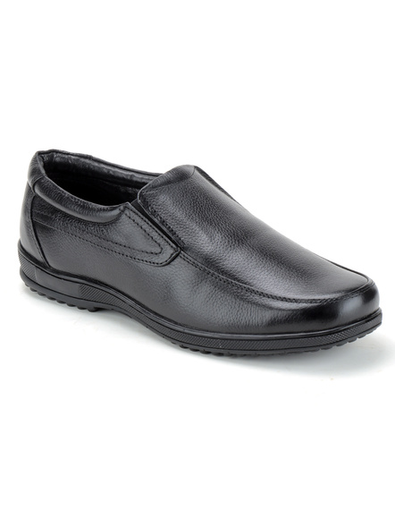Black Leather Moccasion Formal SHOES24-Black-7-1