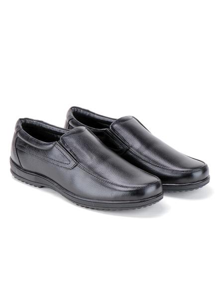 Black Leather Moccasion Formal SHOES24-Black-8-6